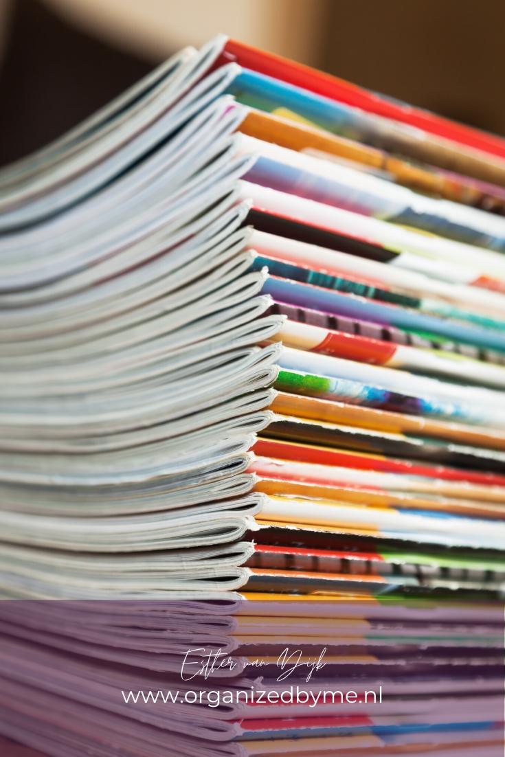 Tijdschriften opruimen